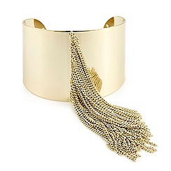 Mood - Gold fringed cuff bracelet