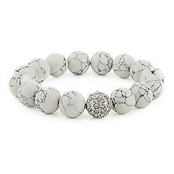 Mood - Marble ball pave crystal stretch bracelet