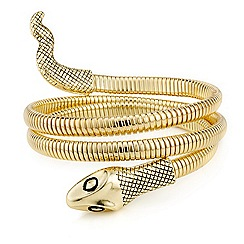 Mood - Gold snake arm cuff bracelet