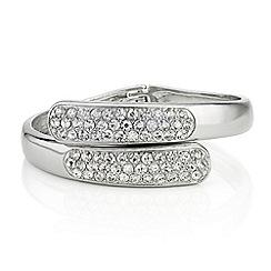 Mood - Crystal twist hinged bangle bracelet