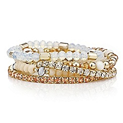 Mood - Multi pack bead and crystal stretch bracelets