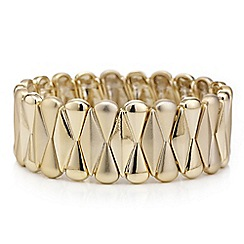Mood - Gold fan stretch bracelet