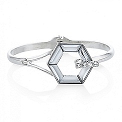Mood - Silver crystal hexagon bracelet