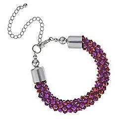Mood - Metallic purple cluster bead bracelet
