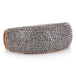 Mood - Rose gold grey crystal bangle