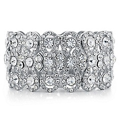 Mood - Silver crystal eternity bracelet