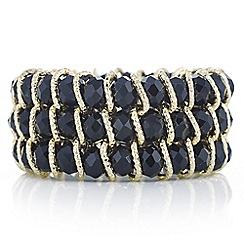 Mood - Black crystal bar bracelet