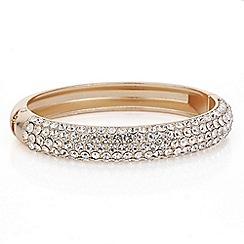 Mood - Rose gold crystal pave bangle