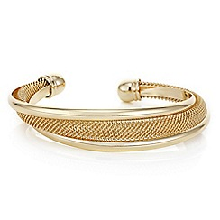 Mood - Gold mesh twist cuff bracelet