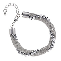 Mood - Silver bead mesh twist bracelet