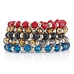 Mood - Multi colour beaded stretch bracelet pack