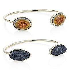 Mood - Pack of two gold druzy stone bangles