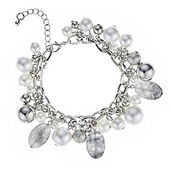 Mood - Cluster pearl and bead charm bracelet