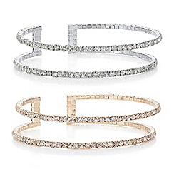 Mood - Multi tone pack of two crystal bangle