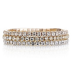 Mood - Multi tone diamante bracelet pack