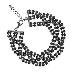 Mood - Black diamante twist bracelet