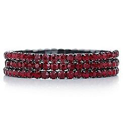 Mood - Red crystal diamante bracelet set