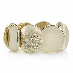 Mood - Gold textured disc bracelet