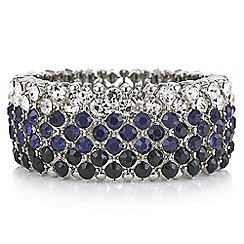 Mood - Tonal blue crystal stretch bracelet