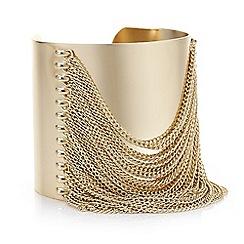 Mood - Gold chain tassel cuff bracelet