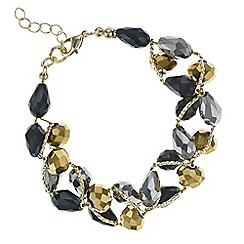 Mood - Black and gold beaded twist bracelet