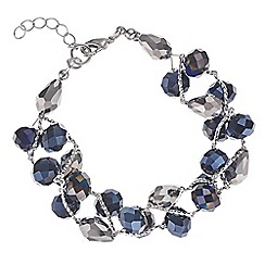 Mood - Blue beaded twist bracelet