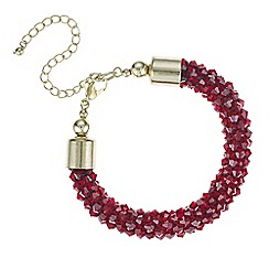 Mood - Red cluster beaded bracelet