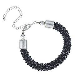 Mood - Jet cluster beaded bracelet