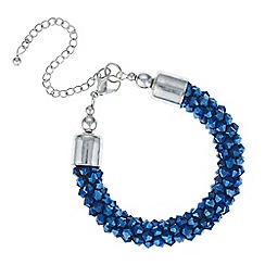 Mood - Metallic blue cluster beaded bracelet