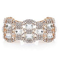 Mood - Rose gold diamante loop bracelet
