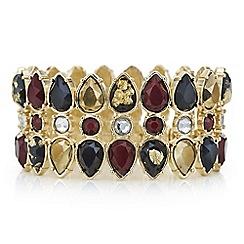 Mood - Red tonal crystal stretch bracelet