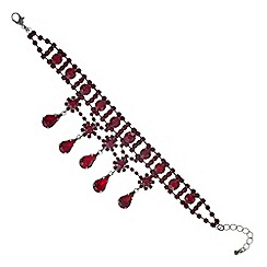 Mood - Red crystal diamante droplet bracelet