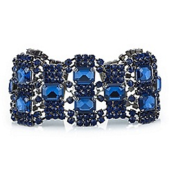 Mood - Blue crystal diamante loop bracelet