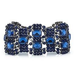 Mood - Blue crystal diamante loop bracelet