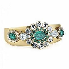 Mood - Green crystal ornate statement bangle