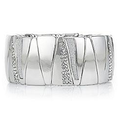 Mood - Silver crystal inlay bracelet