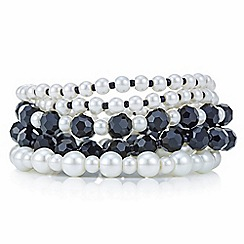 Mood - Monochrome pearl beaded bracelet