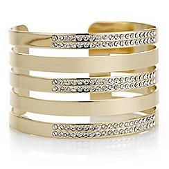Mood - Gold pave row cuff bracelet