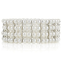 Mood - Cream pearl stretch bracelet