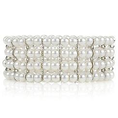 Mood - Cream pearl stretch bracelet