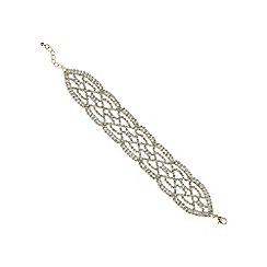 Mood - Gold crystal diamante lattice bracelet