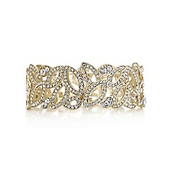 Mood - Gold crystal cut out navette bracelet