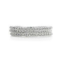 Mood - Silver crystal diamante bracelet set