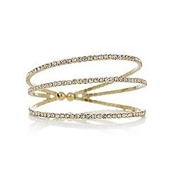 Mood - Gold crystal diamante cuff bracelet
