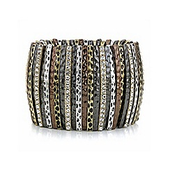 Mood - Multi tone pave stick stretch bracelet