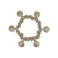 Mood - Textured gold disc bracelet