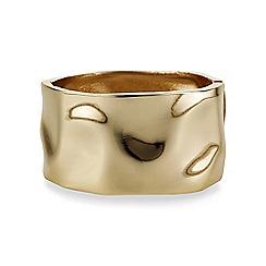 Mood - Gold chunky textured bangle