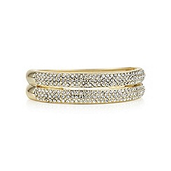 Mood - Gold crystal pave double row bracelet
