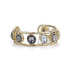 Mood - Gold multi shape cuff bracelet