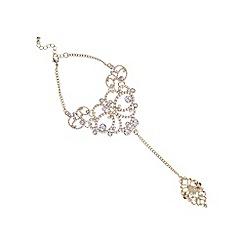 Mood - Rose gold ornate hand chain bracelet